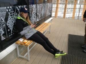 Erin chilling earlier in the week