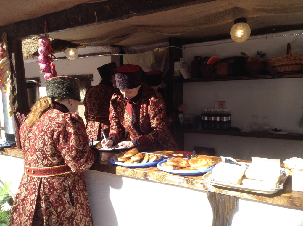 Pastries at an outdoor Cossack restaurant